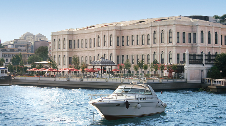 four seasons hotel istanbul at the bosphorus exterior day boat