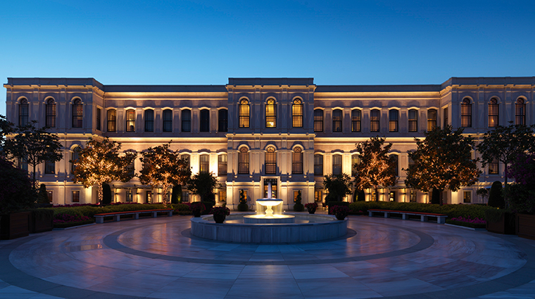 four seasons hotel istanbul at the bosphorus exterior night