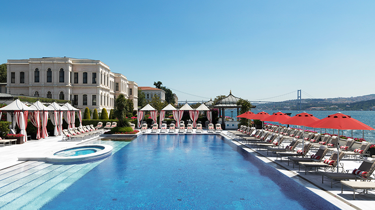 four seasons hotel istanbul at the bosphorus pool wide