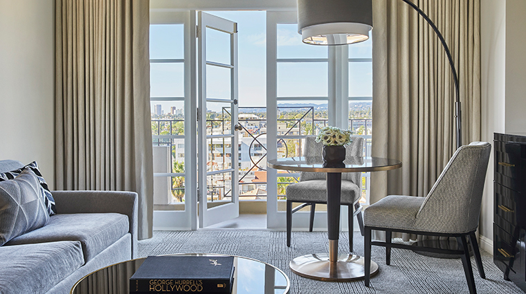 four seasons hotel los angeles at beverly hills living room with view