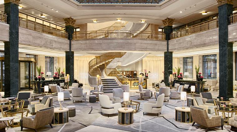 four seasons hotel madrid lobby wide