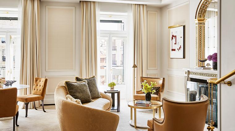 four seasons hotel madrid one bedroom suite  living room