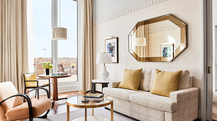 four seasons hotel madrid terrace suite living room