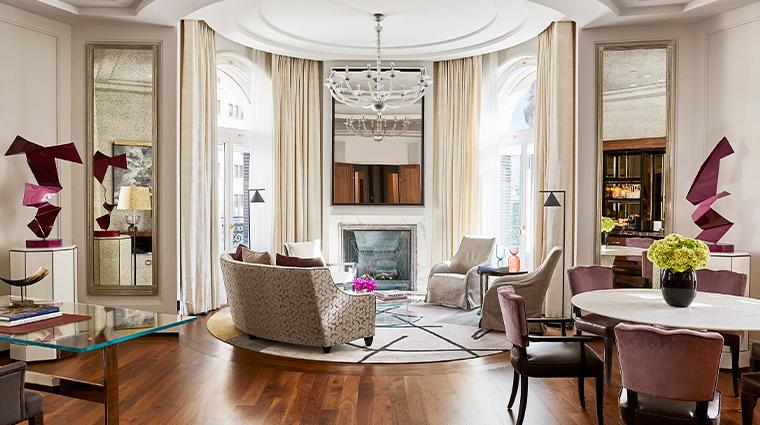 four seasons hotel madrid two bedroom suite living room wide