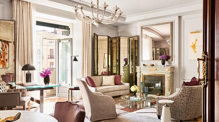 four seasons hotel madrid two bedroom suite living room