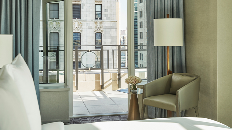 four seasons hotel new york downtown gotham suite balcony