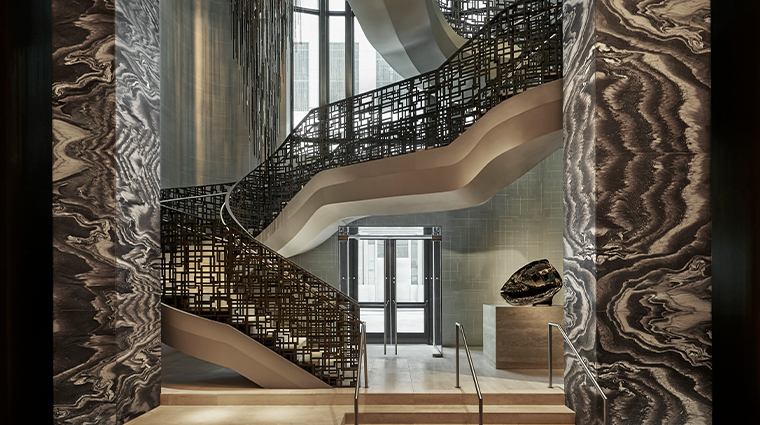 four seasons hotel new york downtown staircase