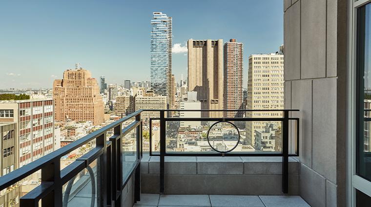 four seasons hotel new york downtown tribeca suite balcony
