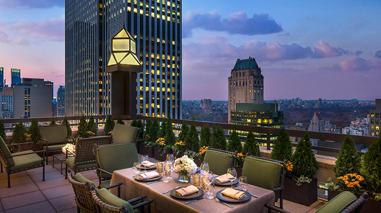 four seasons hotel new york central park suite terrace