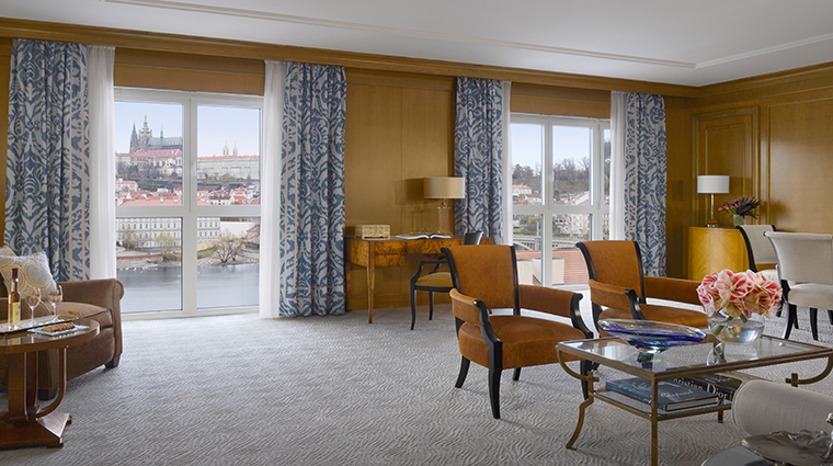 four seasons hotel prague premier suite living room modern