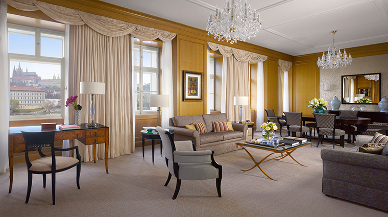 four seasons hotel prague premier suite living room neoclassical