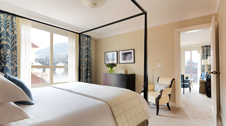 four seasons hotel prague river suite bedroom modern