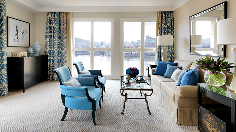 four seasons hotel prague river suite living room modern