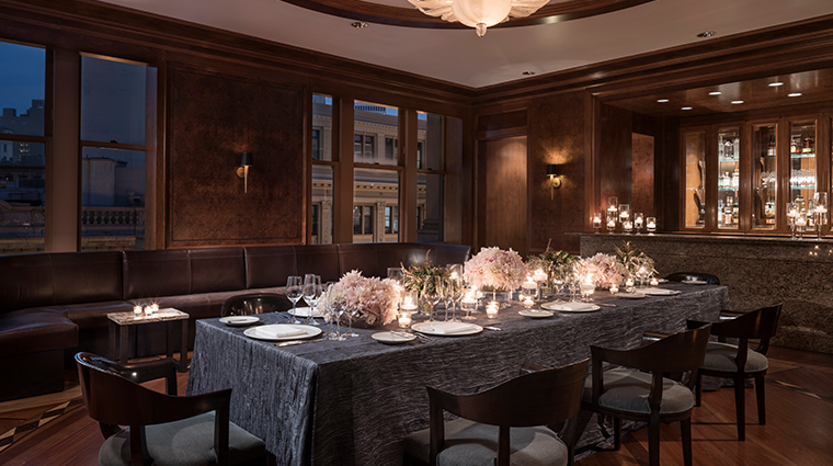 four seasons hotel san francisco mkt private dining den