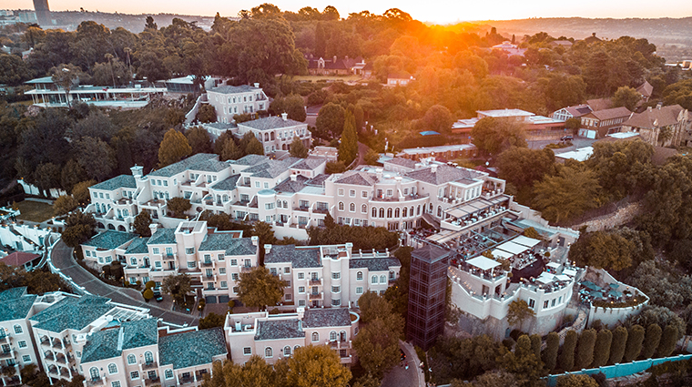 four seasons hotel the westcliff johannesburg aerial sunset