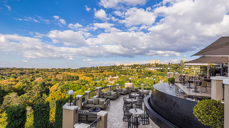 four seasons hotel the westcliff johannesburg flames full view