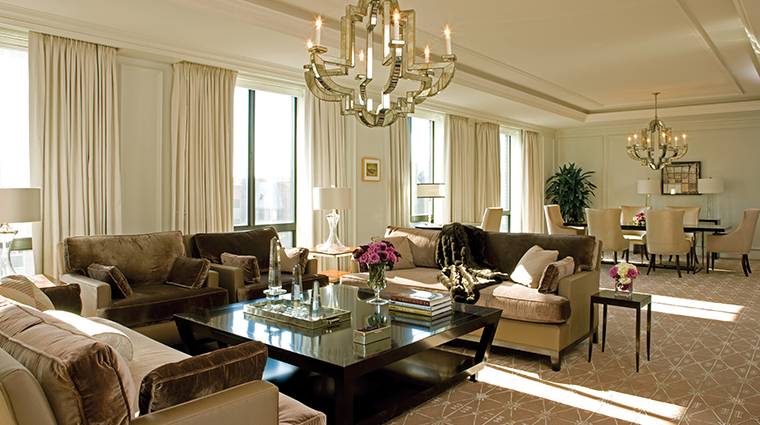 four seasons hotel washington dc presidential suite west living room