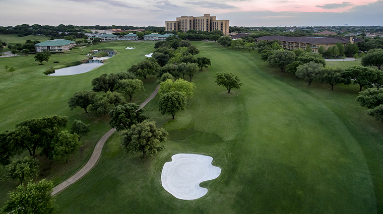 four seasons resort and club dallas at las colinas aerial