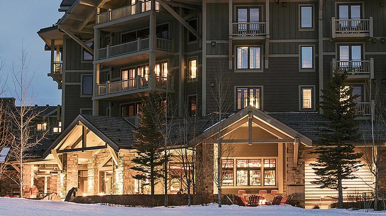 four seasons resort and residences jackson hole winter exterior night