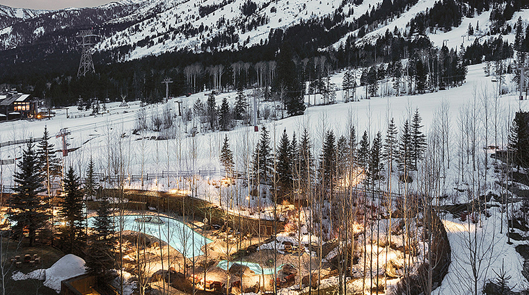 four seasons resort and residences jackson hole winter exterior view