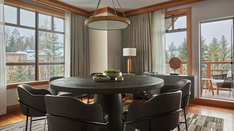 four seasons resort and residences whistler panorama suite dining