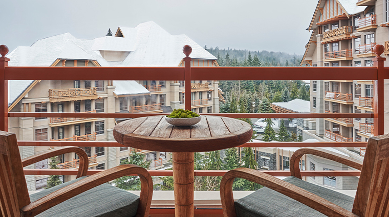 four seasons resort and residences whistler premier king balcony