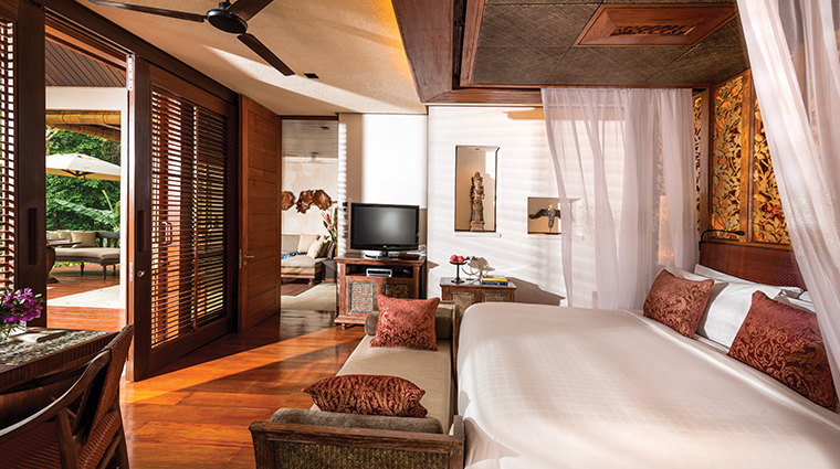 four seasons resort bali at sayan one bedroom villa bed