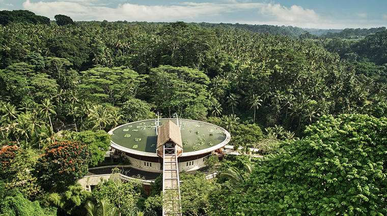 four seasons resort bali at sayan resort aerial