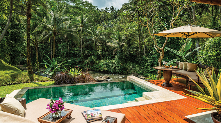 four seasons resort bali at sayan villa plunge pool