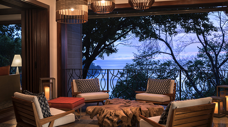 four seasons resort costa rica at peninsula papagayo terrace night