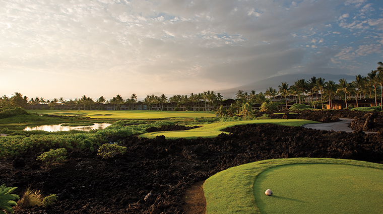 four seasons resort hualalai golf sunset