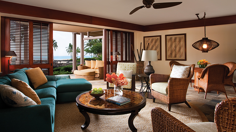 four seasons resort hualalai living room angle