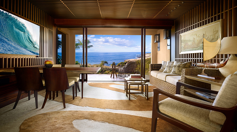 four seasons resort lanai ohana prime ocean front living room