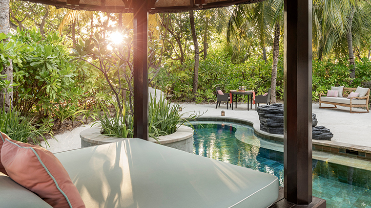 four seasons resort maldives at kuda huraa pool cabana