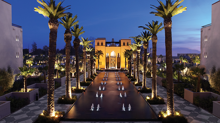four seasons resort marrakech exterior night