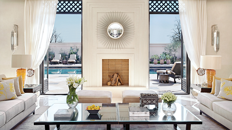 four seasons resort marrakech fireplace