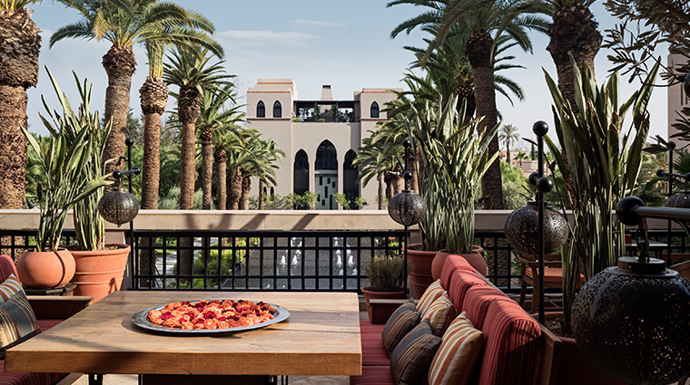 four seasons resort marrakech terrace view