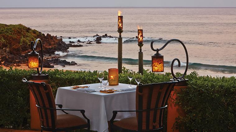 four seasons resort maui at wailea dining table