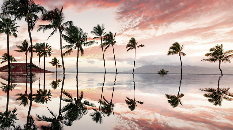 four seasons resort maui at wailea pool sunset reflection