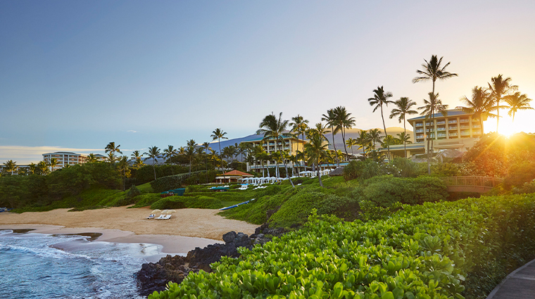 four seasons resort maui at wailea sun in corner