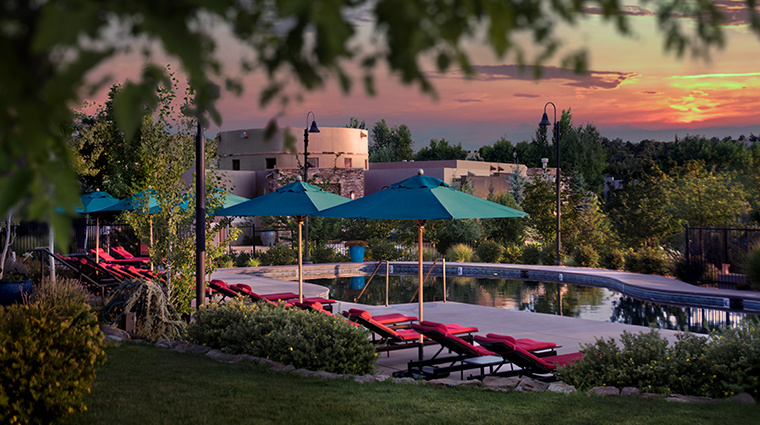 four seasons resort rancho encantado santa fe pool night