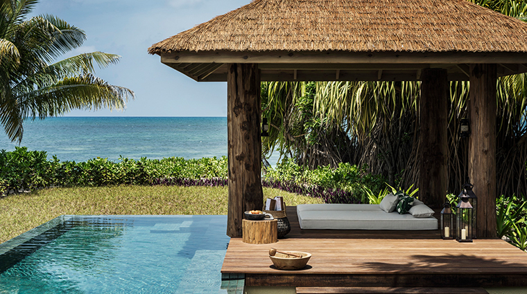 four seasons resort seychelles at desroches island pool cabana