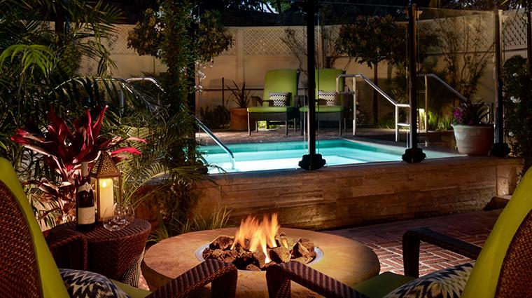 four seasons resort the biltmore santa barbara nightime pool