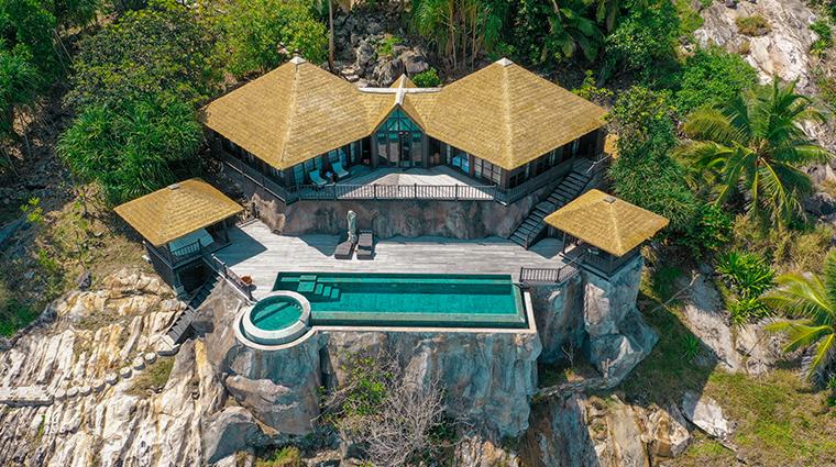 fregate island private private pool villa exterior view