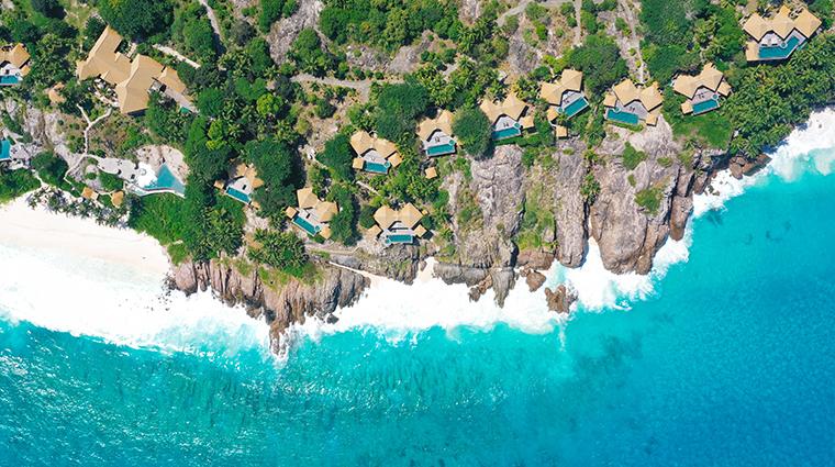 fregate island private villas aerial