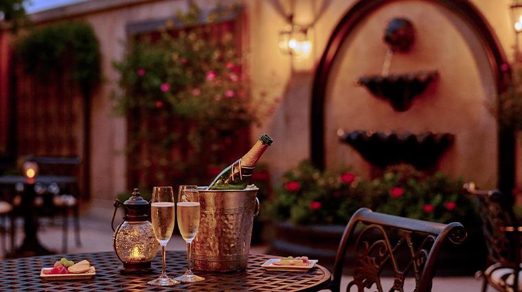 french quarter inn terrace night