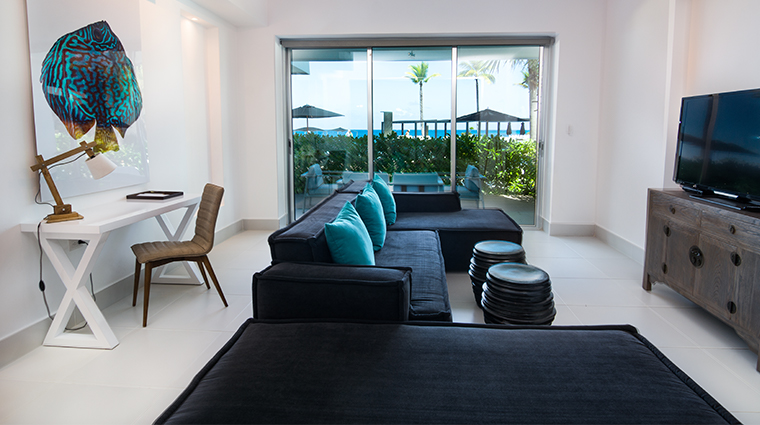 gansevoort dominican republic playa imbert one bedroom living room