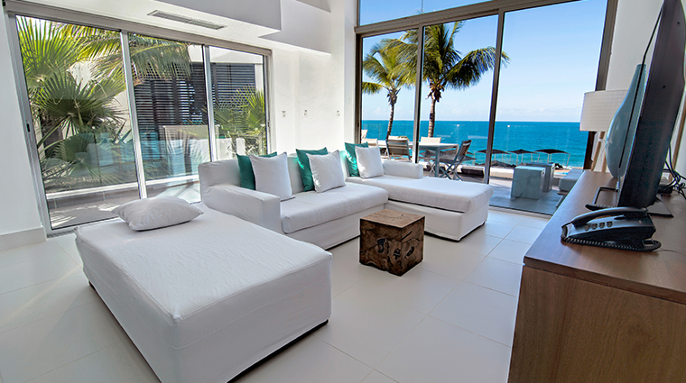 gansevoort dominican republic playa imbert two bedroom loft living room