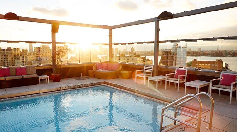 gansevoort meatpacking nyc pool sunset