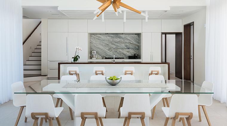 gansevoort turks caicos villa dining room
